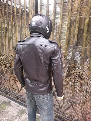 áo da moto màu đen cao cấp giá rẻ
