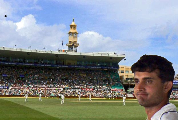 Saurav Ganguly at Sydney Cricket Ground