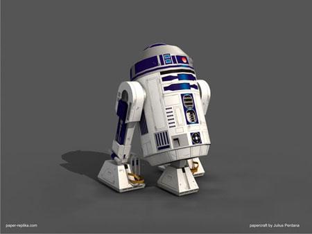 Star Wars R2D2 Paper Model