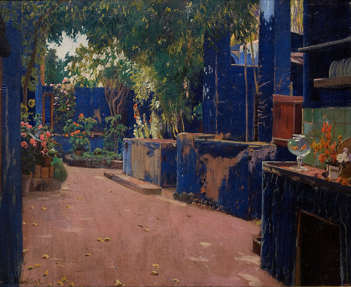 Santiago Rusiñol - Blue Courtyard. Arenys de Munt