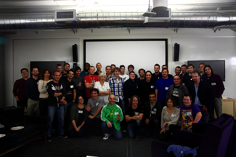 Photo of attendees at W3C Games Community Group Summit November 2011