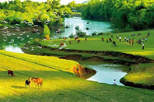 ảnh dòng sông quê hương