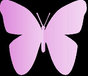 Mariposa de papel rosa.