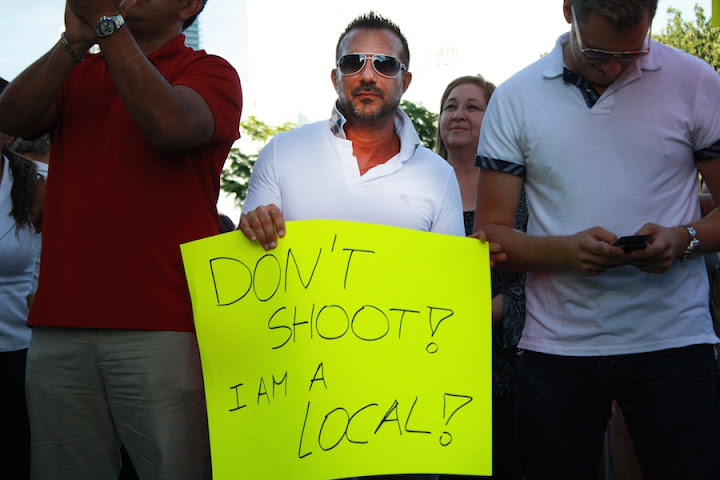 Photo from Miami Beach anti-Urban Beach Week rally