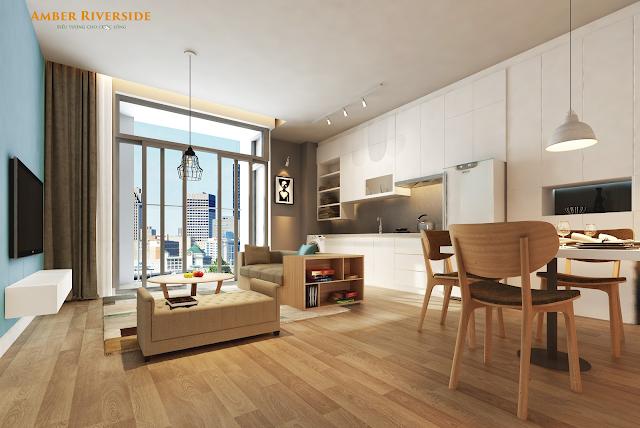 Thiết kế căn hộ Amber Riverside Minh Khai