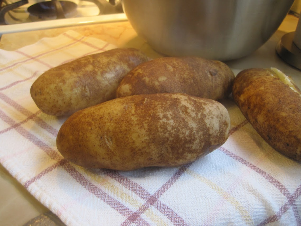Good old starchy baking potatoes - the best type for making gnocchi