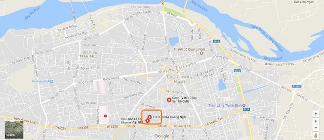 Vị trí dự án Uhome Việt Nhật Quảng Ngải