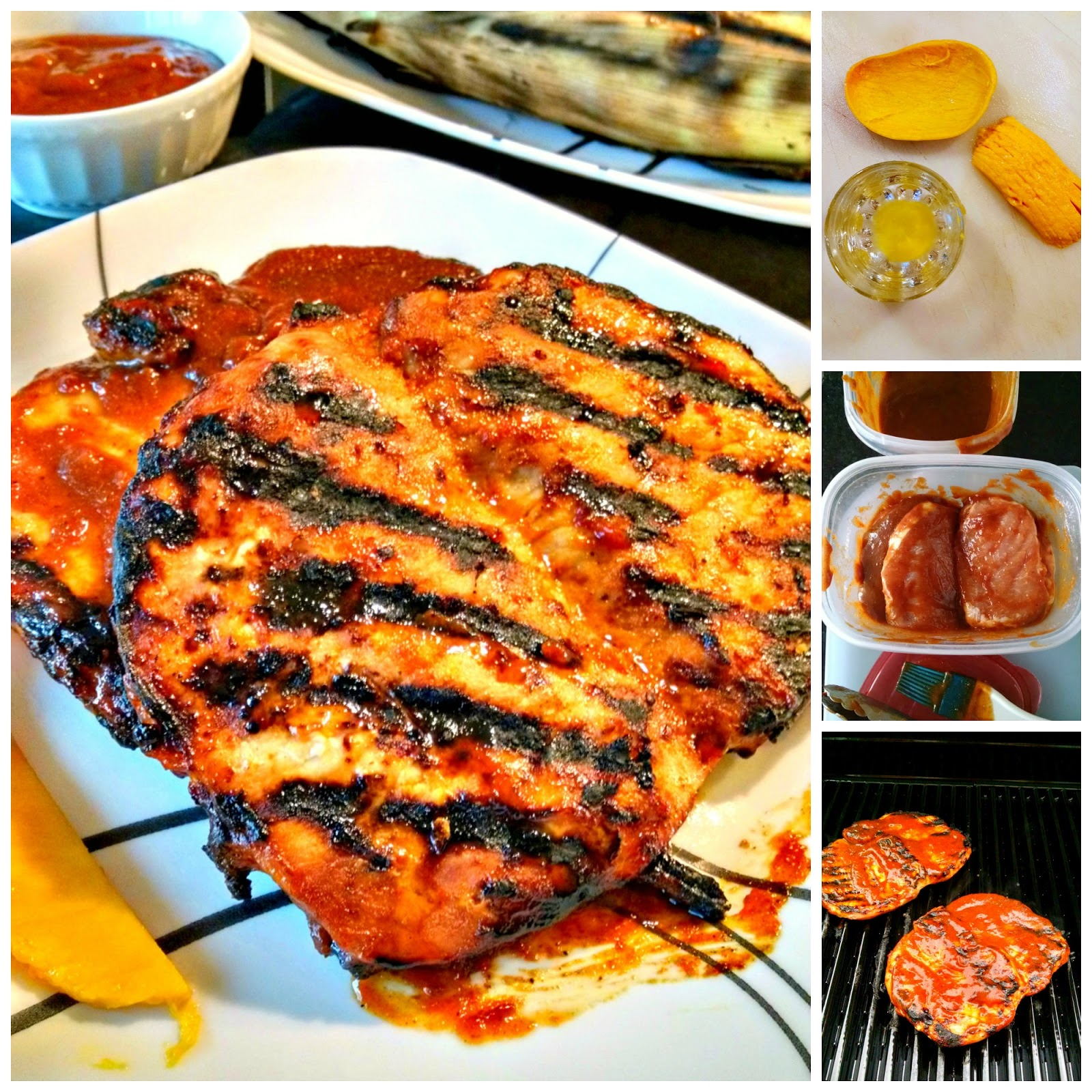 Exotically sweet mango is the basis for this simply tasty sauce. Mango Barbecued Pork Chops takes you to the tropics right from your kitchen. This recipe makes plenty of sauce for at least 2 meals work of chops.