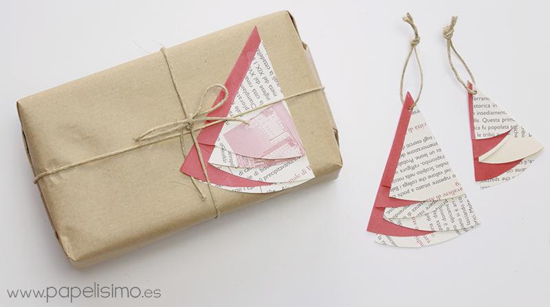 envolver regalos con decoracin navidea