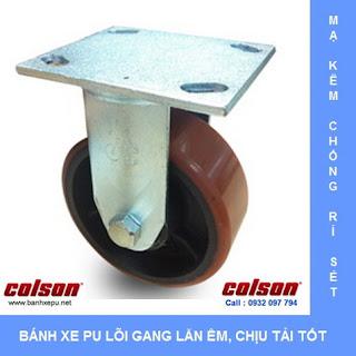 Bánh xe PU lõi Gang bánh xe đẩy tải nặng (315~550kg) | www.banhxepu.net