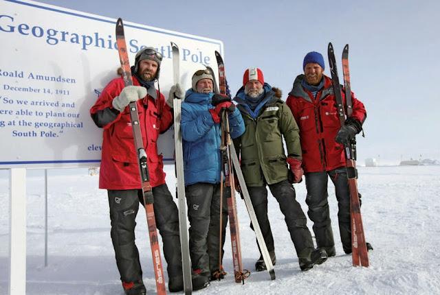 남극점에 도착한 남극점 1911-2011팀