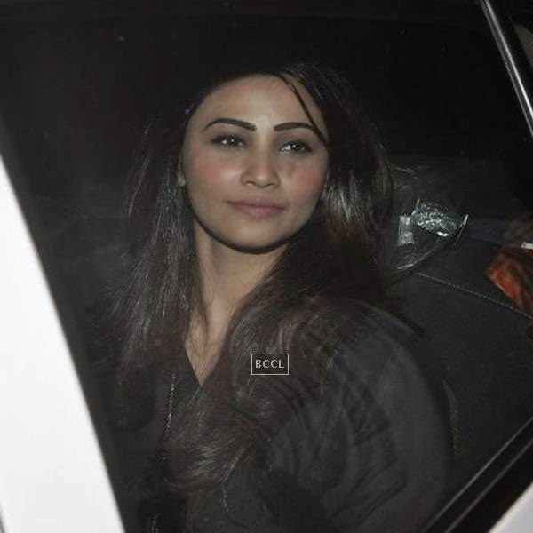 Daisy Shah of Jai Ho fame during the screening of a movie, in Mumbai, on July 24, 2014. (Pic: Viral Bhayani)<br />