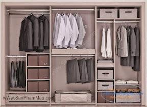 Tủ âm tường để quần áo nam