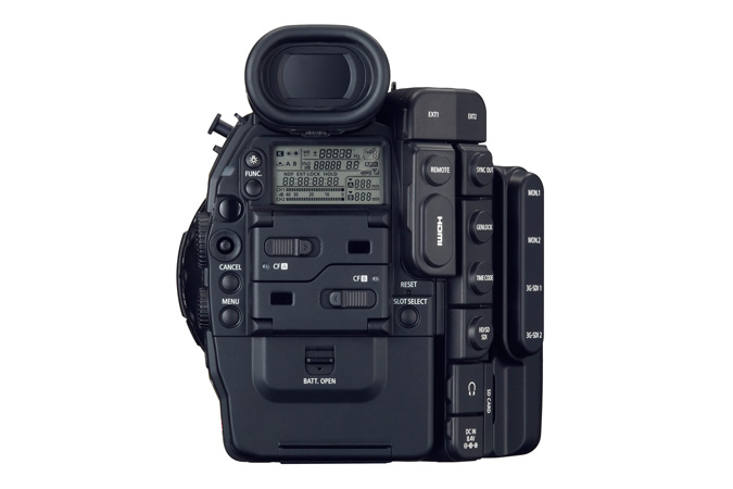 Canon C500 back