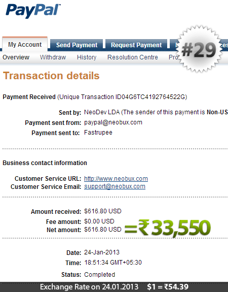 Neobux Payment Proof 29