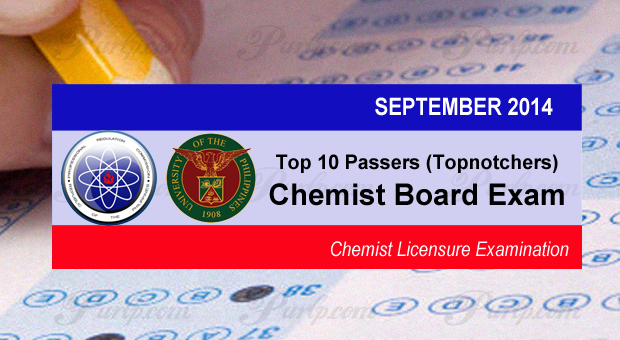 UP Diliman grad tops Sept 2014 Chemist Licensure Exam
