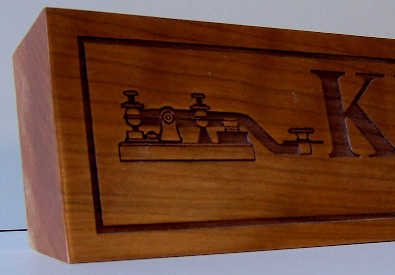 Engraved Call Sign Desk Plaque