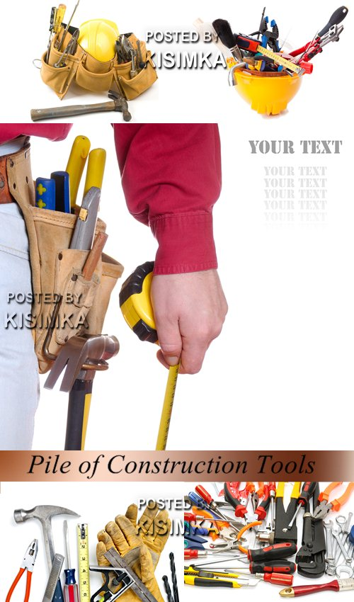 Stock Photo: Pile of Construction Tools