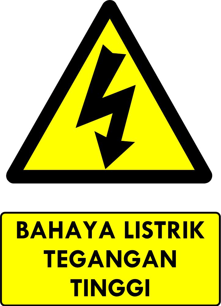 Rambu Bahaya Listrik Tegangan Tinggi
