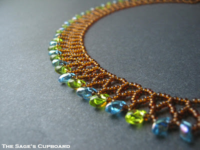 Chevron Collar with Magatamas