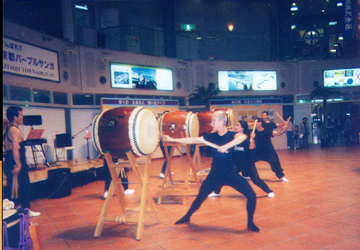 Lash playing Taiko Drums. #WorkAbroadBecause it will open your mind!