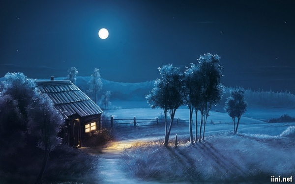 ảnh ánh trăng ở làng quê