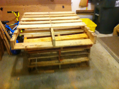 The pallets (We used about 32 total)