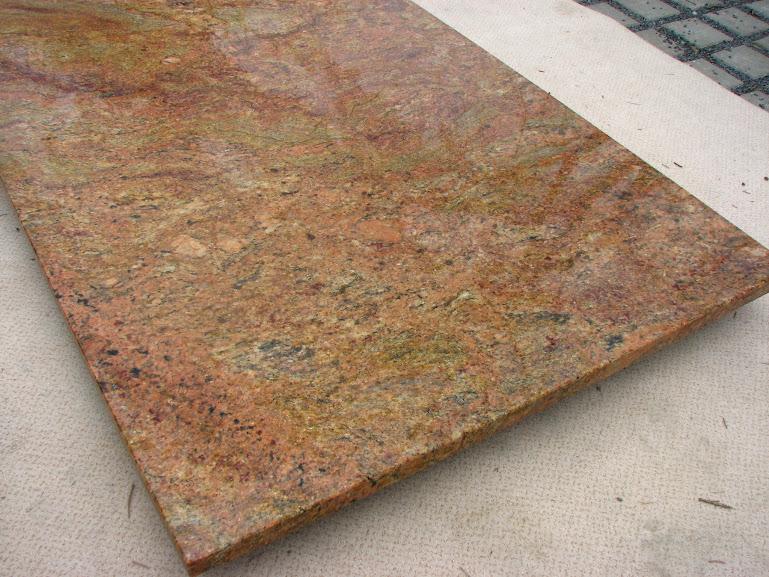 madura gold als abdeckung tischplatte terrassentisch gartentisch esstisch granit ebay. Black Bedroom Furniture Sets. Home Design Ideas