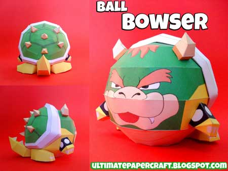 Ball Bowser Papercraft
