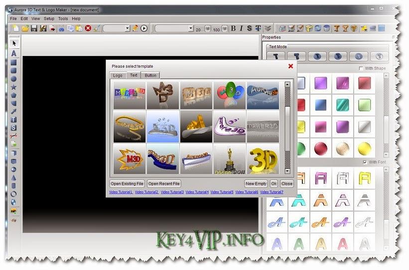 Aurora 3D Text & Logo Maker v14.07.21 Multilingual Full Key,Phần mềm hiết kế đồ họa 3D, Logo, Banner chuyên nghiệp