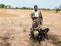 Real Gift - A happy goat owner in South Sudan