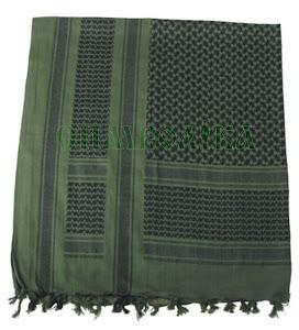 MFH Шемаг чорно-зелений 115x110cm:16503В