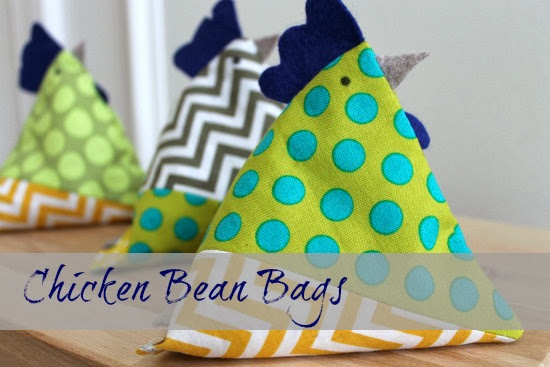Handmade gift idea: Chicken Bean Bags