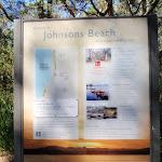 Information sign at Johnson's Beach