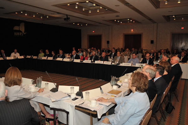 Members of HANYS' Board of Trustees meet at HANYS' 43rd Annual Membership Conference.