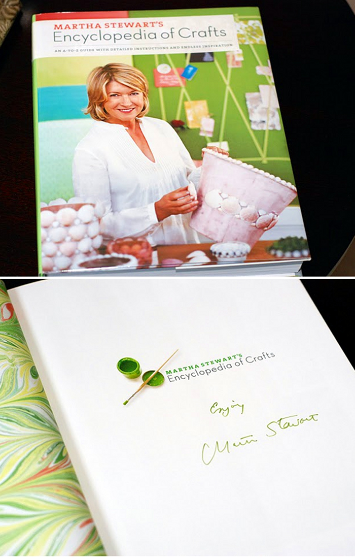 Giveaway | Signed Martha Stewart's Encyclopedia of Crafts
