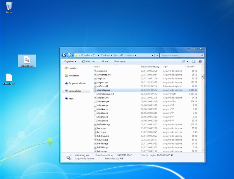 Arquivo windows system32 drivers Acpi sys