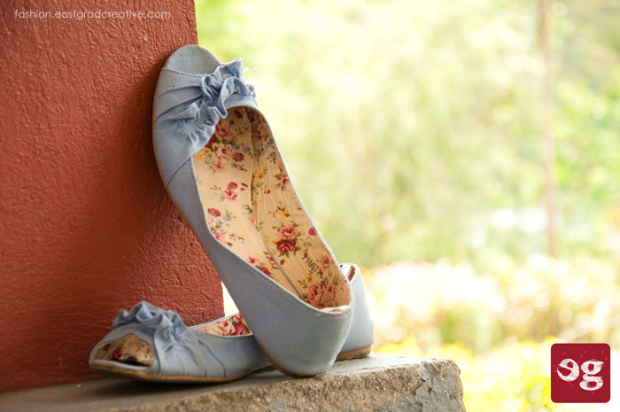Denim pumps from atmosphere