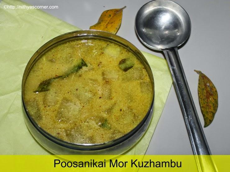 Poosanikai mor kuzhambu recipe, Pumpkin mor kuzhambu