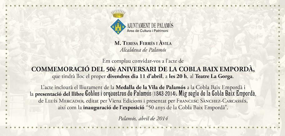 Actes del 50è aniversari de la Cobla Baix Empordà
