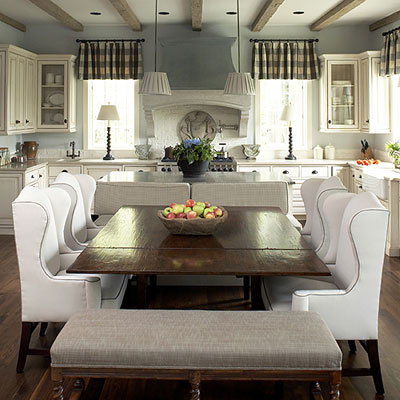 The ultimate shout out to white Kitchens.and a major giveaway - French Country White Kitchen Cabinets