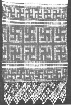 свастика на полотенце