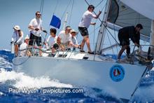 J/39 Sleeper sailing fast downwind at Antigua Sailing Week