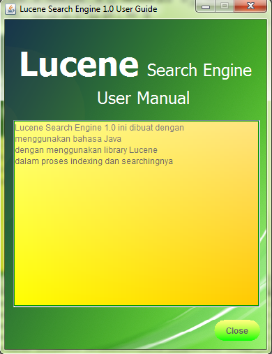 Aplikasi Lucene Search Engine