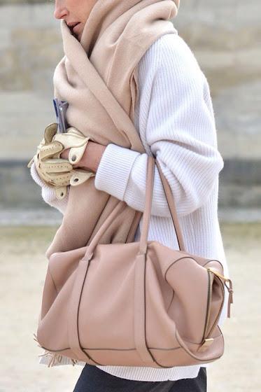 Estilo bufanda tipo manta camel fashion week
