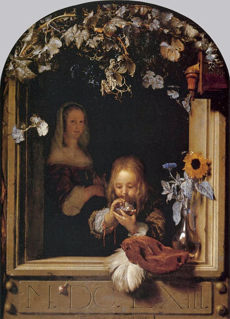 Frans van Mieris the Elder - Boy Blowing Bubbles