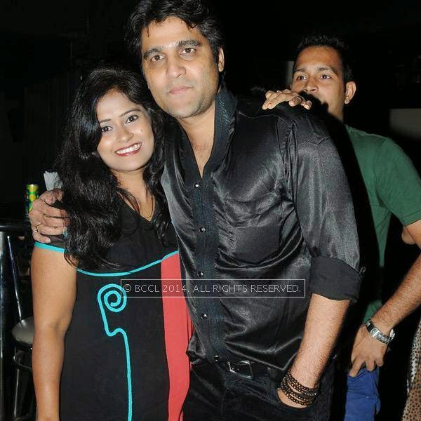 Dipesh and Rita during a party in Hyderabad.