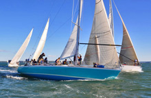 J/44 one-design racer cruiser sailboat- sailing Storm Trysail College Big Boat Regatta