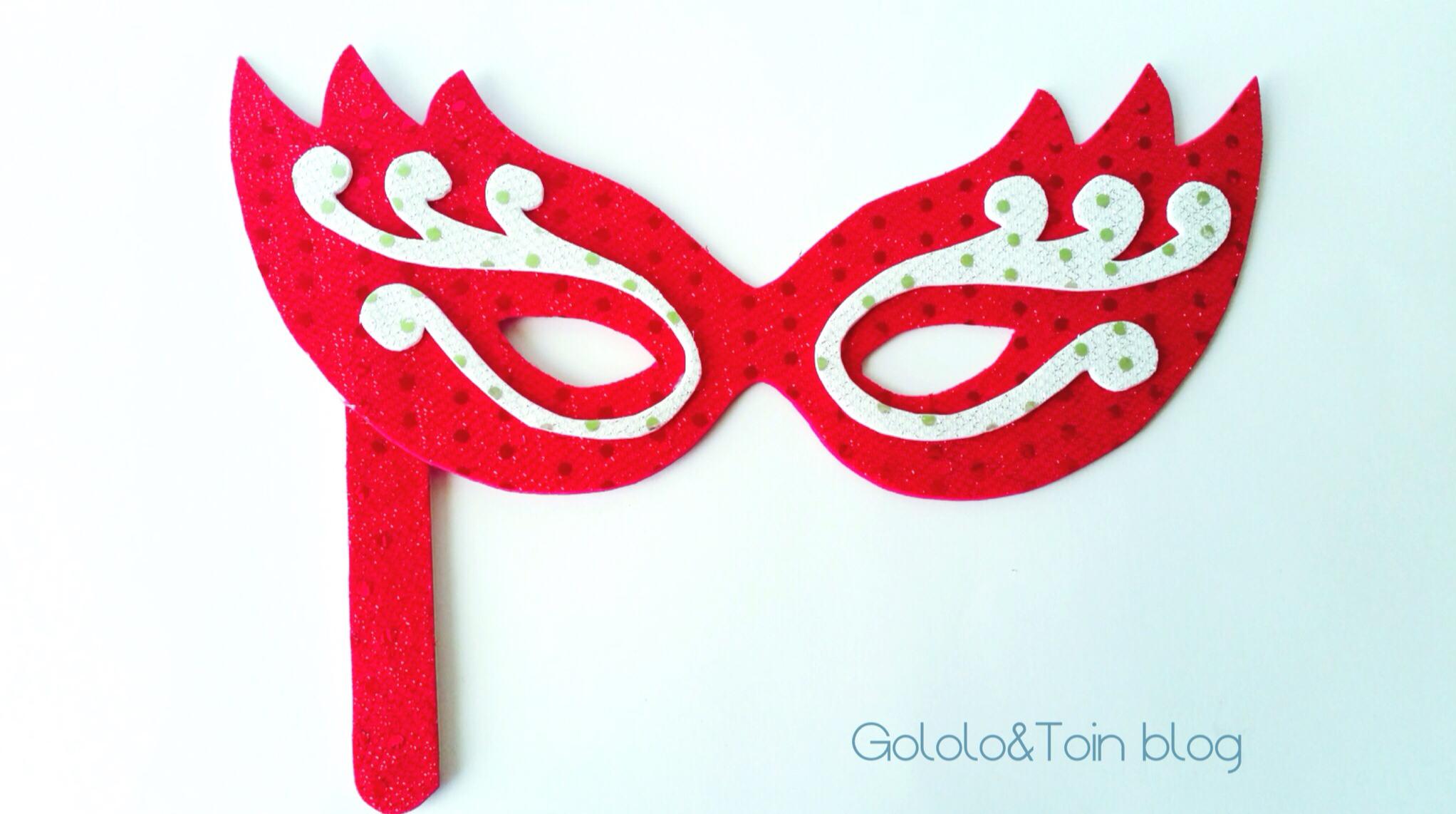 Máscara veneciana en goma EVA | Gololo y Toin: blog de maternidad ...