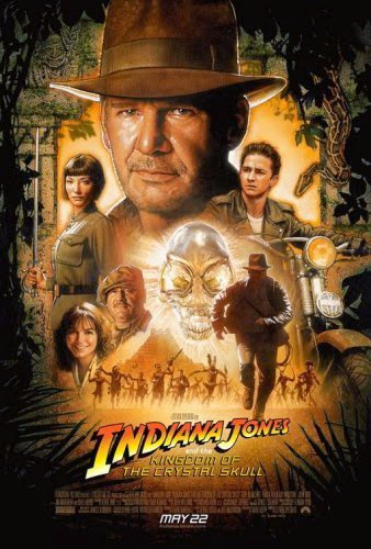 Poster Of Indiana Jones and the Kingdom of the Crystal Skull (2008) Full Movie Hindi Dubbed Free Download Watch Online At Alldownloads4u.Com